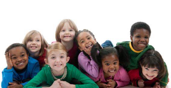 Multicultural gang of children