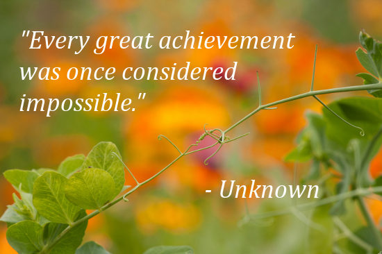 every great achievement